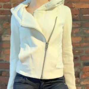 Helmut Lang Hooded Leather Jacket Size Petite P XS